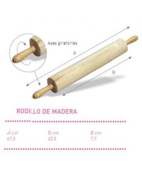 RODILLO MADERA ASAS GIRATORIAS 67.5 CM UTIL45.5