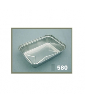 ENVASE ALUMINIO CON TAPA E-580*185X (Pack 100 Unidades)
